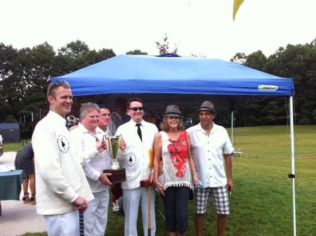 winning team in white jackets