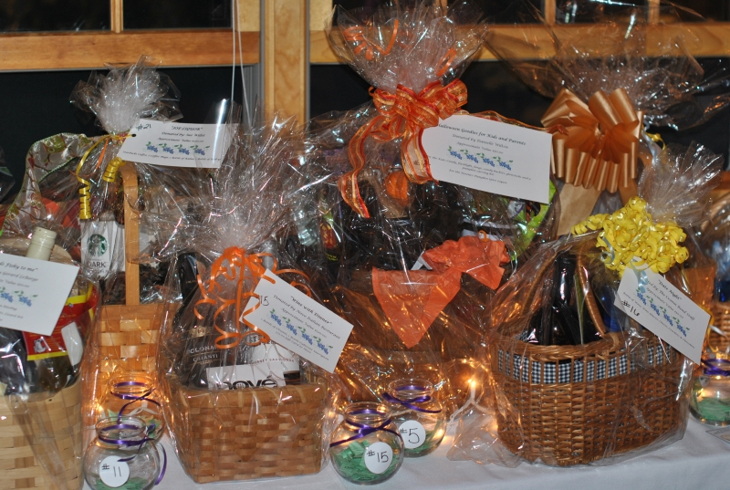 view of raffle baskets