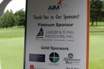 Thank yo to our sponsors sign board at 7th Annual AIM Golf Tournament