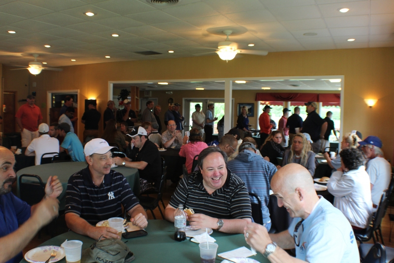 groups of people laughing in clubhouse