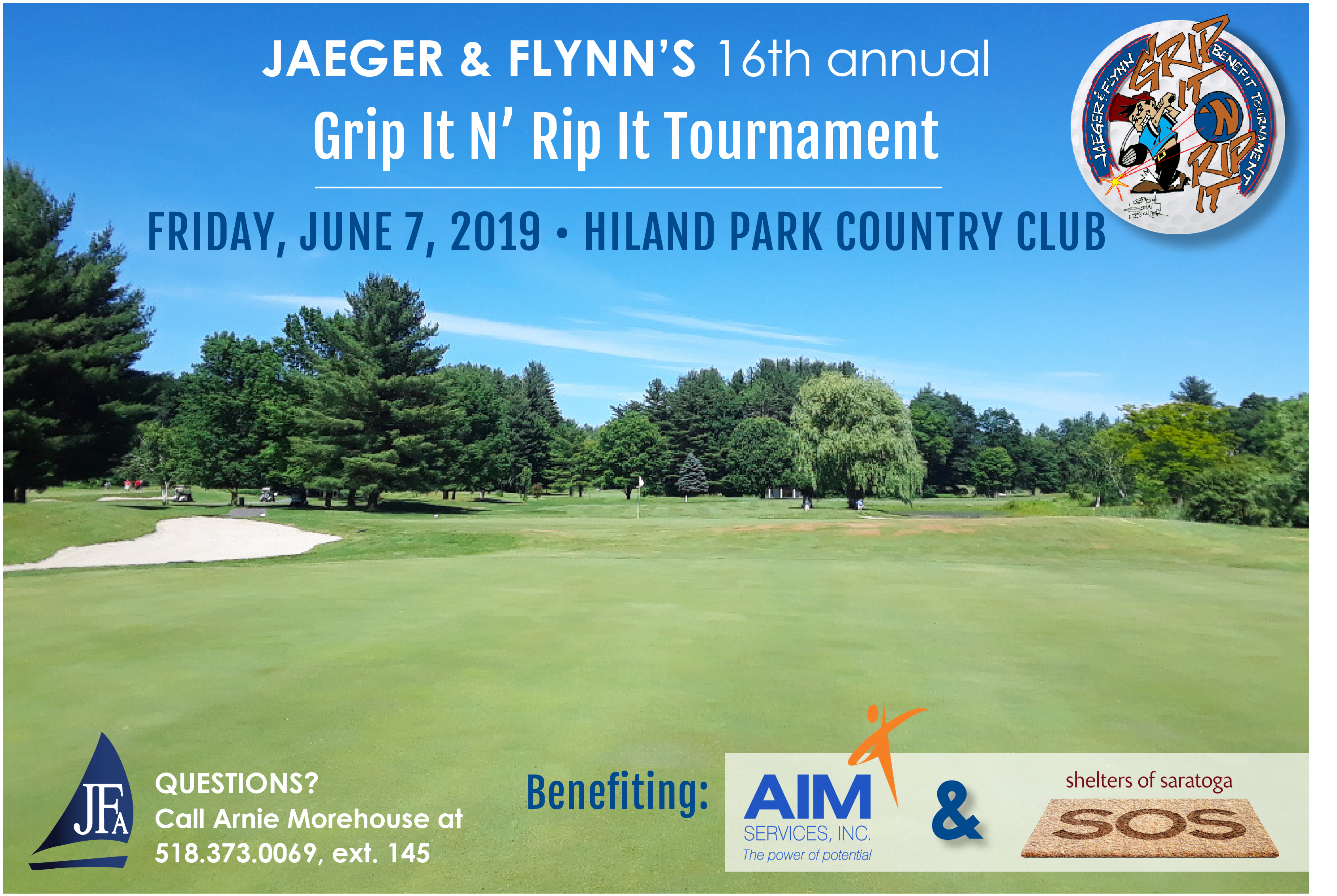 golf course image for grip it and rip it golf tournament on june 7, 2019