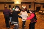 Group dancing on dance floor