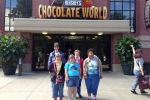 Ladies in front of Hershey's Chocolate World