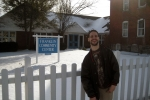 Franklin community center sign board behind Meet Mark
