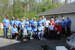 Members pose for group photo after spring clean-up