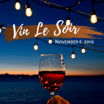 "picture of wine glass with text ""vin Le soir November 6 2019"""