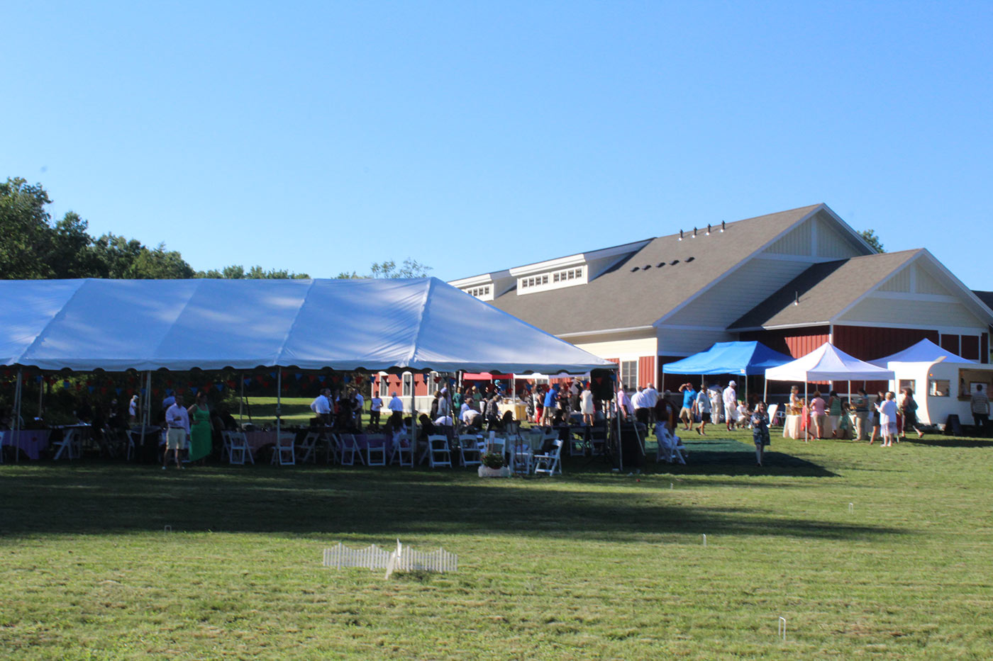 view of large tents at event