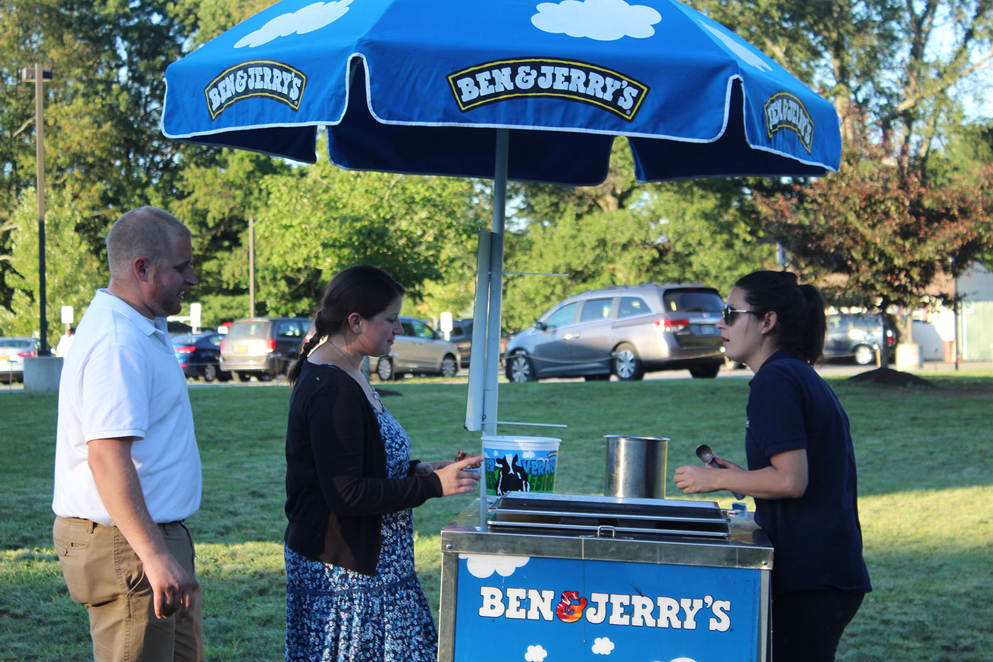 ben and jerrys booth