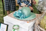 fancy teal hat
