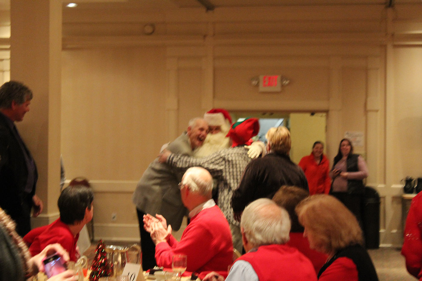 group hug with santa!