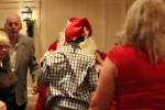 back of man in elf hat