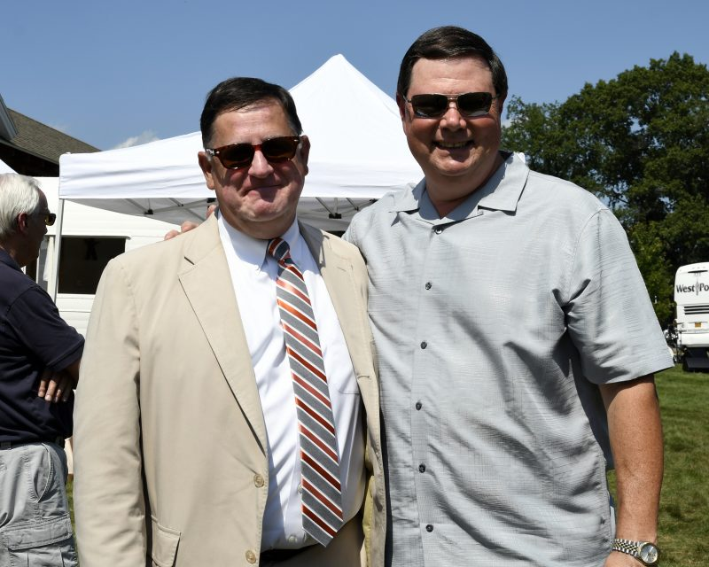 Senior Director and Counsel, Chris Lyons with AIM Board member and owner of Specialty Wines & More, Brian Gwynn