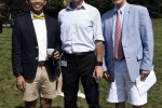 3 Men group at Croquet on the Green