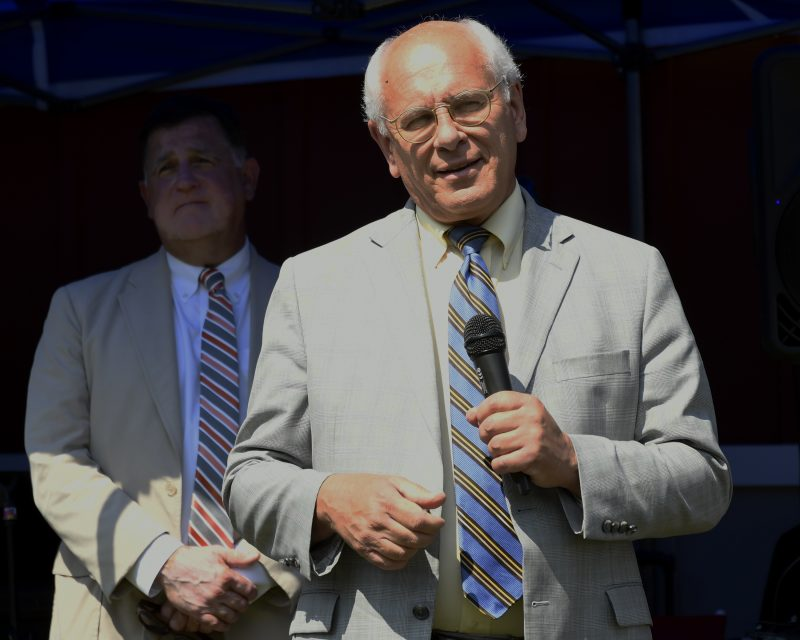 Congressman Paul Tonko speaks at Croquet on the Green