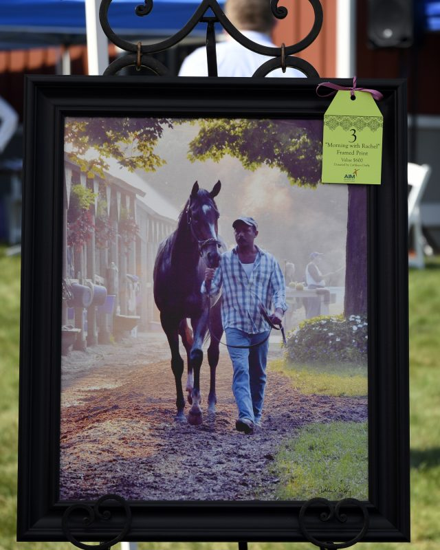 """Morning with Rachel"" framed print by Horse Whisperer Photography for AIM's raffle, valued at $600"