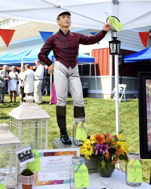 Lawn jockey raffle item at Croquet on the Green