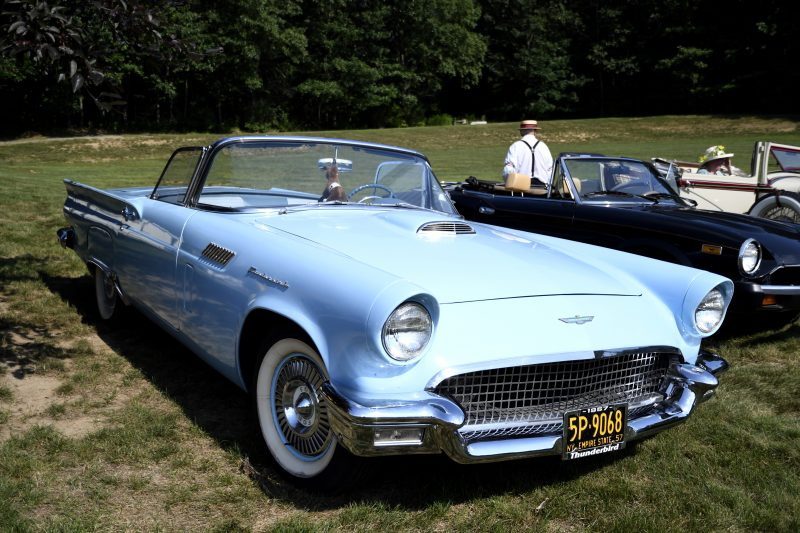 Blue Classic car at Croquet on the Green