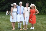 Croquet players on the Green with clubs