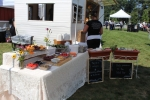 Deliciously Different setting up catering for Croquet on the Green
