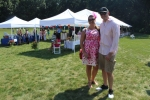 Couple in pink at Croquet on the Green