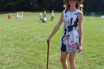 Women Croquet player at Croquet on the Green