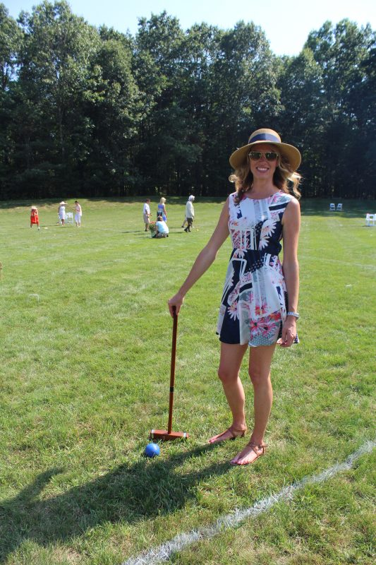 Croquet player at Croquet on the Green