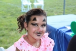 Kid with Cat Face Painting