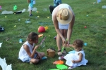 Croquet on the Green with Kids playing