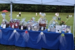 Croquet on the Green raffle items on table