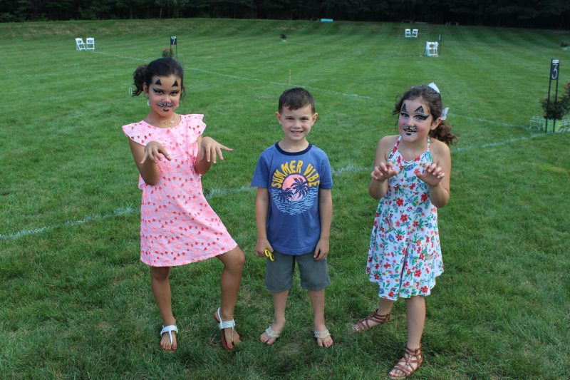 Croquet on the Green Kids with cat face paint