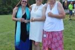 3 friendly women posing for shot