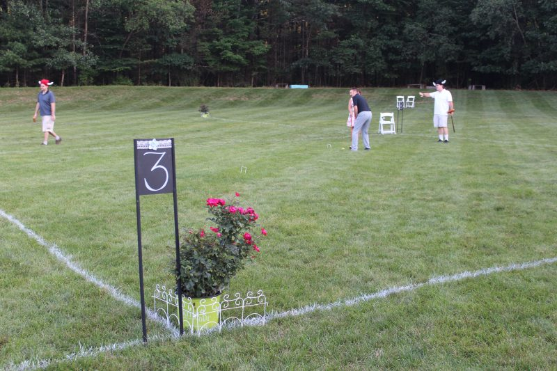 Croquet on the Green Final Tournament 3 sign