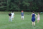 Croquet on the Green Final Tournament laughing group