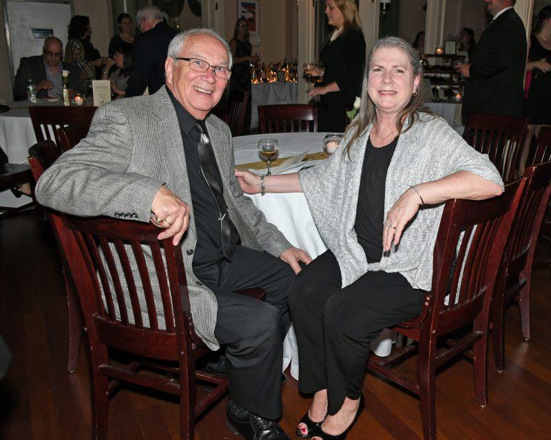 Martin Glastetter, Cathy Shiffert enjoying the Vin Le Soir event