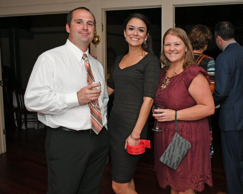 Andy Carson, Stephanie Dolly, Katie Carson enjoying the Vin Le Soir event