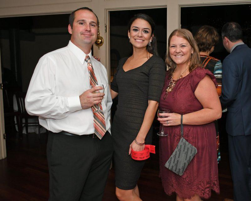 Andy Carson, Stephanie Dolly, Katie Carson enjoying the Vin Le Soir event