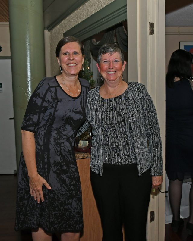 Stacie Bauer, Susan Gorman enjoying the Vin Le Soir event