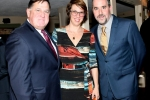 Chris Lyons, Beth Saba, Larry Novik enjoying the Vin Le Soir event