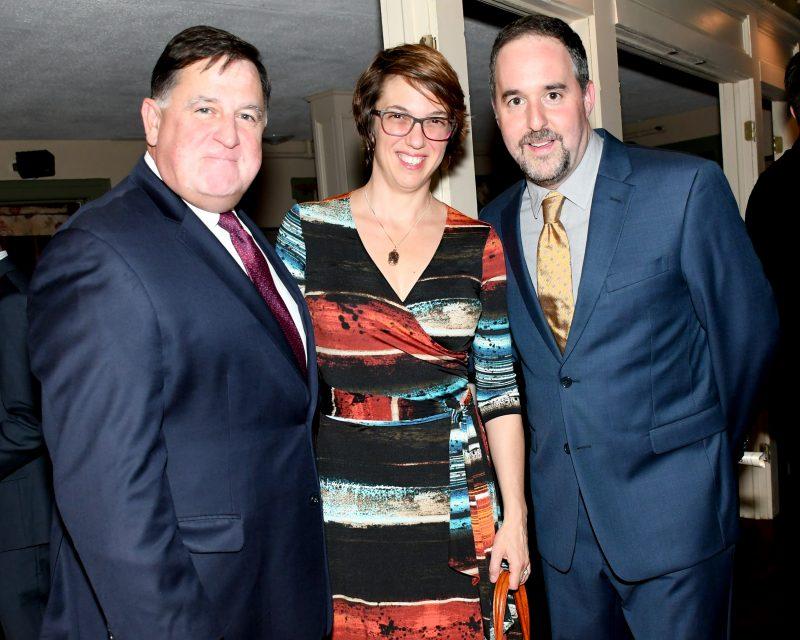 Chris Lyons, Beth Saba, Larry Novik enjoying the Vin Le Soir event