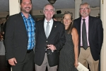 Nick Miner, Mathew Vietch, Cheryl Smith, Peter Goutos enjoying the Vin Le Soir event