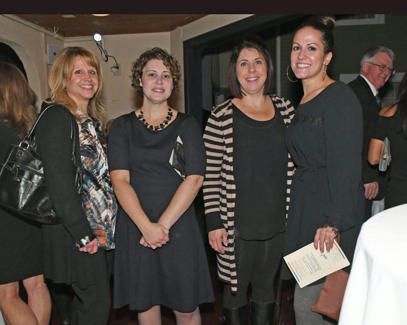 Jennifer Wormley, Rebecca Baldwin, Nicole Iwaniec, Sarah Kline enjoying the Vin Le Soir event