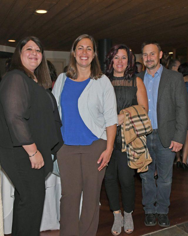 Renee Herbert, Dr. Erin Christopher-Sisk, Kelly and Greg Slywka enjoying the Vin Le Soir event