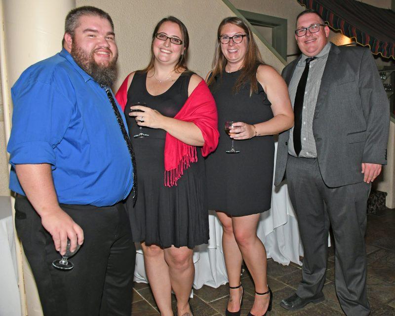 Jody and Alison Vantassell, Brittany Putnam, Tyler Hoosier enjoying the Vin Le Soir event