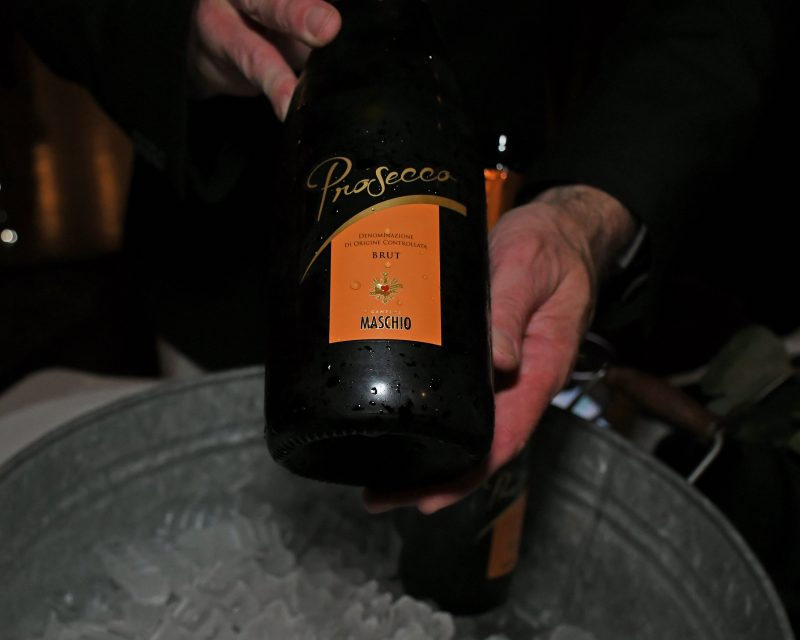 Close up of a bottle of Prosecco at the Vin Le Soir event