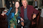 Natalie Sillery, Frederick Partyka II enjoying the Vin Le Soir event