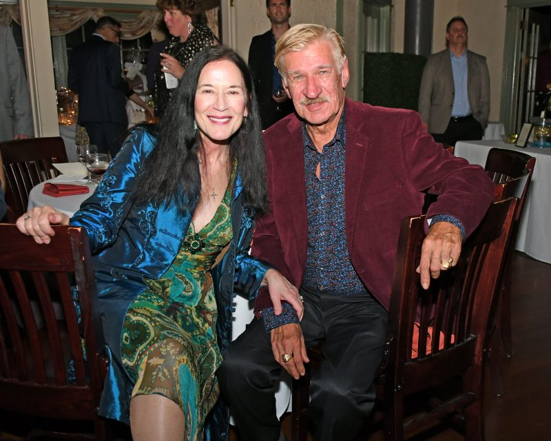 Natalie Sillery, Frederick Partyka II enjoying the Vin Le Soir event