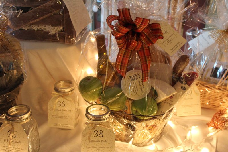 Fruit and cheese basket raffle at Vin Le Soir