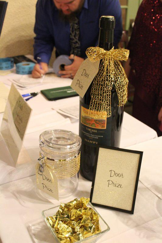 Large format bottle of wine door prize at the Vin Le Soir event
