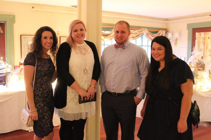 Kristi Williams, Amber Suttle, Damon Casey, Ashley Stark enjoying the Vin Le Soir event