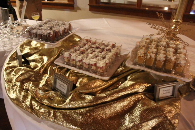 Mini dessert display at Vin Le Soir event